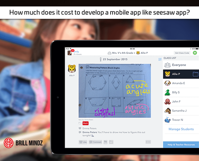 How much does it cost to develop a mobile app like seesaw app
