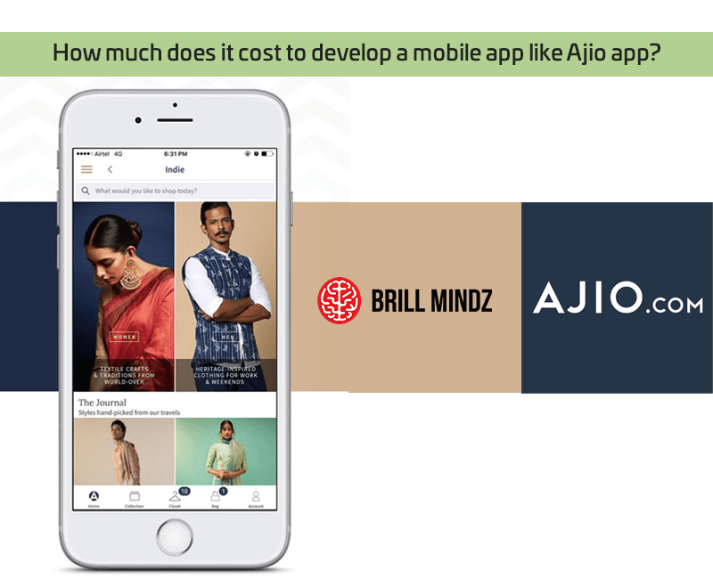 How much does it cost to develop a mobile app like Ajio app