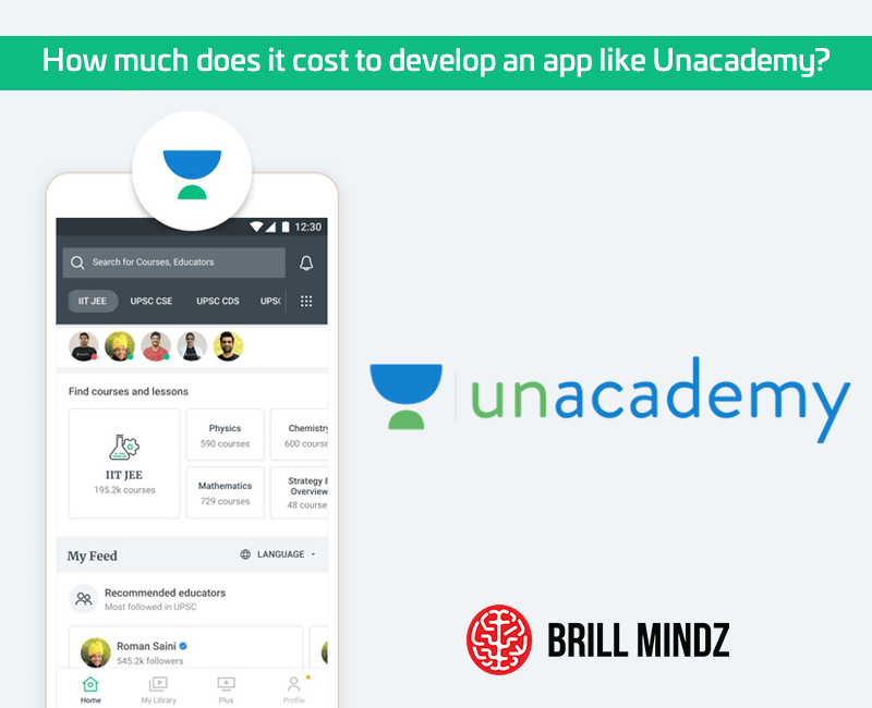 How much does it cost to develop an app like Unacademy?
