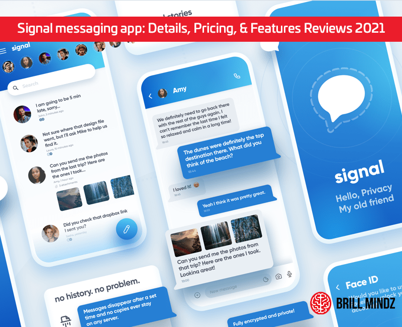 Signal messaging app: Details, Pricing, & Features Reviews 2021