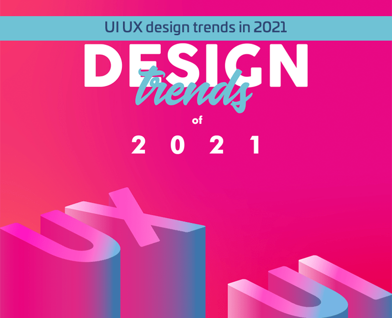 UI UX design trends in 2021