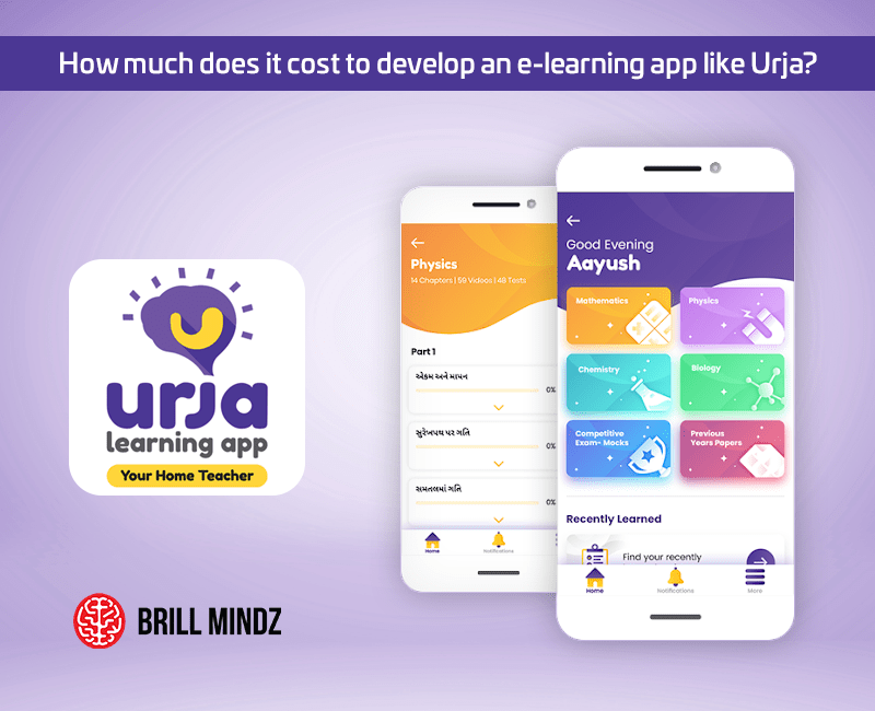 How much does it cost to develop an e-learning app like Urja